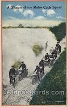 mil006032 - A Glimpse of Our Motor Cycle Squad Military, WW I, World War I, Postcard Postcards