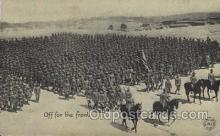 mil006046 - Off for the Front Military, WW I, World War I, Postcard Postcards