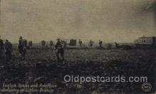 mil006047 - English Tanks & American Infantry in Action, France, WW I, World War I, Postcard Postcards