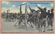 mil006052 - Throwing hand Grenades Military, WW I, World War I, Postcard Postcards