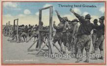 mil006053 - Throwing hand Grenades Military, WW I, World War I, Postcard Postcards