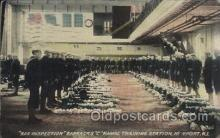 mil006057 - Bag Inspection, Naval Training Station, Newport, R.I. USA Military, WW I, World War I, Postcard Postcards