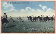 mil006081 - U.S. Field Artillery Battery Military, WW I, World War I, Postcard Postcards