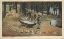 mil006096 - Washing Dishes Military, WW I, World War I, Postcard Postcards