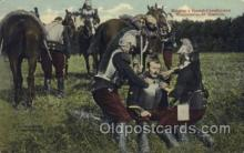 mil006110 - Helping a French Cavalryman Wounded at St. Quentin, Military, WW I, World War I, Postcard Postcards