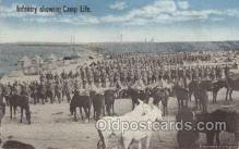 mil006124 - Infantry Showing Camp Life Military, WW I, World War I, Postcard Postcards