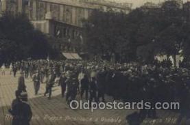 mil006156 - Arrivo delle Truppe American a Genova 1918,  Military, WW I, World War I, Postcard Postcards
