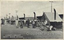 mil006159 - Camp-Grant Army Bake Ovens Military, WW I, World War I, Postcard Postcards
