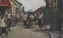 mil007065 - A street in Chefoo, China Military Postcard Postcards