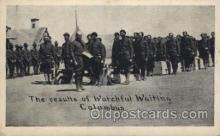 mil007066 - The results of watchful waiting Columbus Military Postcard Postcards