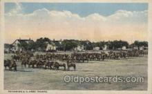 mil007067 - Reviewing U.S. Army Troops Military Postcard Postcards