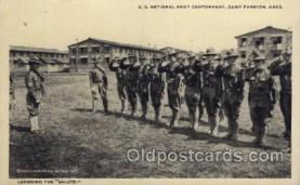 mil007123 - U.S. National Army Cantoment, Camp Fuston, Kansas, USA Military Postcard Postcards