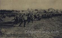 mil007141 - A German Charge, Fixed Bayonets, G.J. Kavanaugh, Chicago Daily News, War Military Postcard Postcards