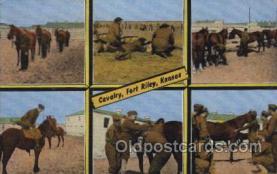 mil007151 - Cavalry, Fort Riley, Kansas, USA Military Postcard Postcards