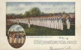 mil007158 - Dress Parade, U.S. Military Academy, West Point, New York, USA Military Postcard Postcards