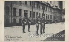 mil007162 - U.S. Army life, Bugle Corps Military Postcard Postcards