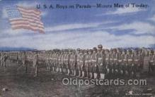 mil007178 - U.S.A. Boys on Parade Military Postcard Postcards