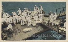 mil007203 - U.S. Marines Embarking for a cruise Military Postcard Postcards