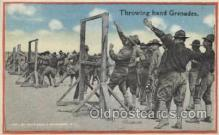mil007210 - Throwing the Granades, USA Military Postcard Postcards