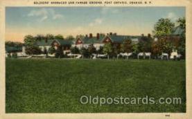 mil007320 - Fort ontario Oswego, N.Y., New York, USA Military Postcard Postcards