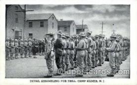 mil007331 - Detail assembling, camp kilmer, New Jersy, USA Military Postcard Postcards