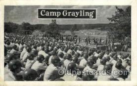 mil007336 - Camp grayling Military Postcard Postcards