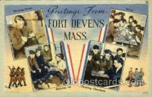 mil007342 - Fort Devens, Massachusetts, USA Military Postcard Postcards