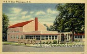 mil007345 - U.S.O. Club Wilmington, North Carolina, USA Military Postcard Postcards