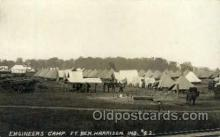 mil007348 - Engineers Camp. Ft. Ben Harrison. Indiana, USA Military Postcard Postcards