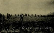 mil007360 - English tanks and American Infantry in Action, France Military Postcard Postcards