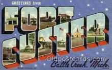 mil007388 - Fort Custer Battle creek, Michigan, USA Military Postcard Postcards