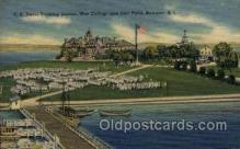 mil007396 - War College and Drill Field, Newport, Rhode Island, USA Military Postcard Postcards