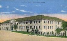 mil007398 - Academic building, Fort Riley, Kansas, USA Military Postcard Postcards