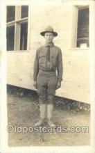 mil025001 - WWI Real Photo Military Soldier in Uniform Post Card Postcard