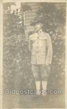 mil025016 - Adelbert G. Barnard Age 18, Enlisted July 20th 1918 WWI Real Photo Military Soldier in Uniform Post Card Postcard
