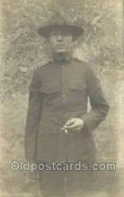 mil025018 - WWI Real Photo Military Soldier in Uniform Post Card Postcard