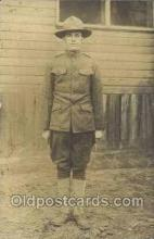 mil025019 - WWI Real Photo Military Soldier in Uniform Post Card Postcard