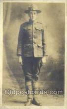 mil025023 - WWI Real Photo Military Soldier in Uniform Post Card Postcard