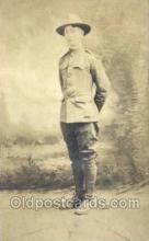 mil025025 - WWI Real Photo Military Soldier in Uniform Post Card Postcard