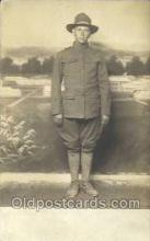 mil025035 - WWI Real Photo Military Soldier in Uniform Post Card Postcard