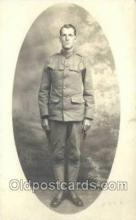 mil025041 - WWI Real Photo Military Soldier in Uniform Post Card Postcard