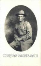 mil025042 - WWI Real Photo Military Soldier in Uniform Post Card Postcard