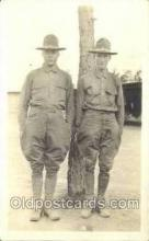 mil025048 - Clifford Murray & Okas Brown WWI Real Photo Military Soldier in Uniform Post Card Postcard