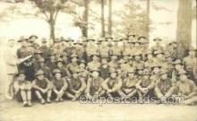 mil025051 - Co F 9th Training Regt WWI Real Photo Military Soldier in Uniform Post Card Postcard