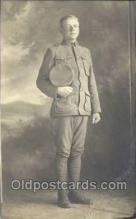mil025053 - WWI Real Photo Military Soldier in Uniform Post Card Postcard