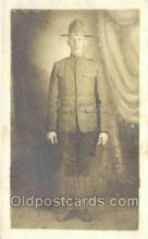 mil025055 - WWI Real Photo Military Soldier in Uniform Post Card Postcard