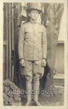 mil025057 - WWI Real Photo Military Soldier in Uniform Post Card Postcard