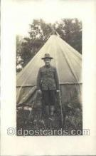 mil025062 - Harry Wooswick WWI Real Photo Military Soldier in Uniform Post Card Postcard