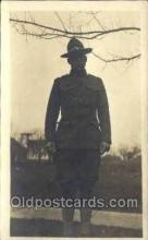 mil025063 - WWI Real Photo Military Soldier in Uniform Post Card Postcard