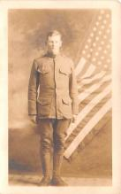 mil025216 - Real Photo Military Postcard Old Vintage Antique Post Card